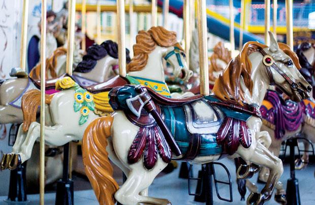 Woodbine Centre carousel a rare ride