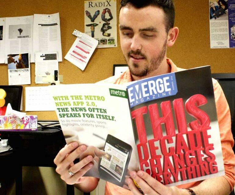 Guelph-Humber magazine at award Pinnacle