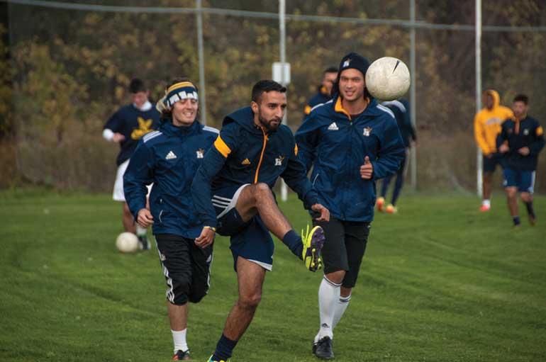 Men's soccer wins division, now seeks championship
