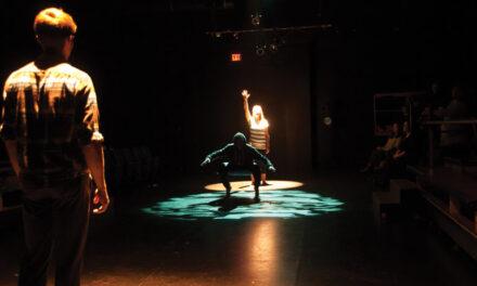Interpretive poetry performance kinetic