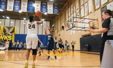 Women's basketball drives to first place