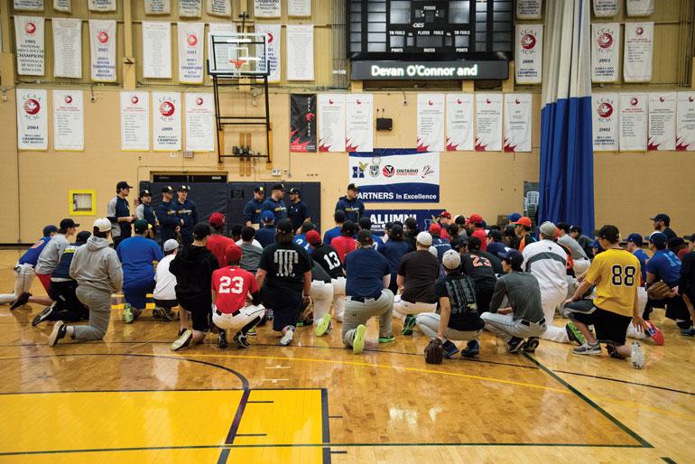 Humber baseball, softball recruitment camp