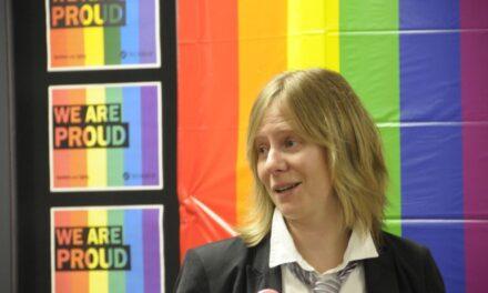 Jen McMillen, Dean of Students speaks at launch