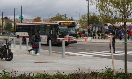 Pedestrian control problem persists at bus loop