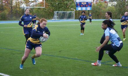 Women's rugby team returns, wins 67-0