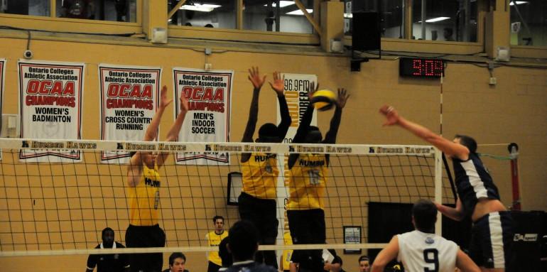 Humber men's volleyball team edges champion Niagara Knights