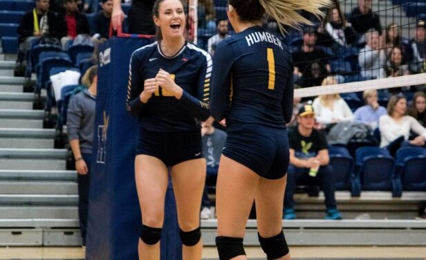 Humber's women's volleyball sweep, men's get sweeped at Mohawk