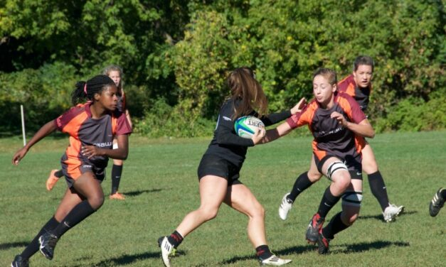 Hawks women at rugby sevens national contest in BC