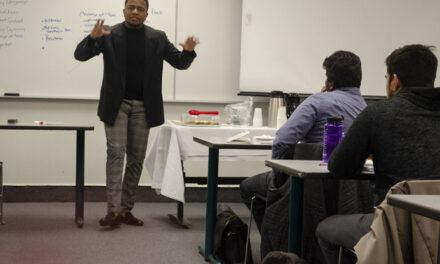 Alumnus leads public speaking workshop at CfE