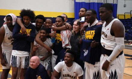 Despite early struggle, Humber wins in last home game of the season