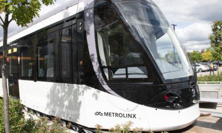 Commuters tour new Finch LRT vehicle