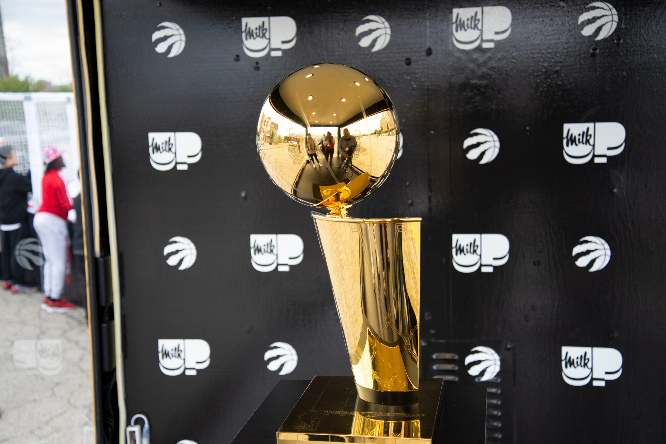Larry O'B trophy tour brings Raptors pride to Humber