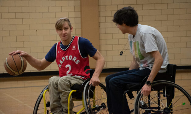 Wheelchair basketball lets student try something new at Lakeshore