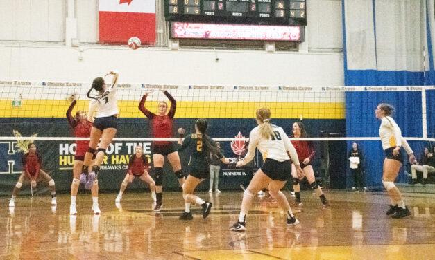 Split start for Hawks women's volleyball