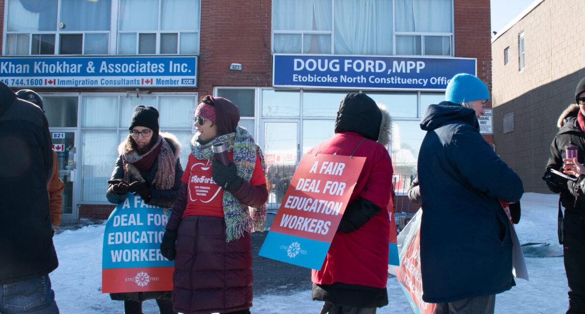 Rotating Ontario teacher strikes puts stress on faculty, students