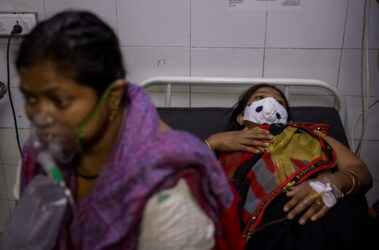 Patients suffering from the coronavirus disease (COVID-19) get treatment April 115 at the casualty ward in Lok Nayak Jai Prakash (LNJP) hospital, amid the spread of the disease in New Delhi, India.