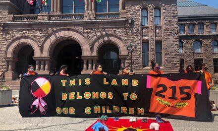 Vigil at Queen's Park honours the 215 Indigenous children found in Kamloops